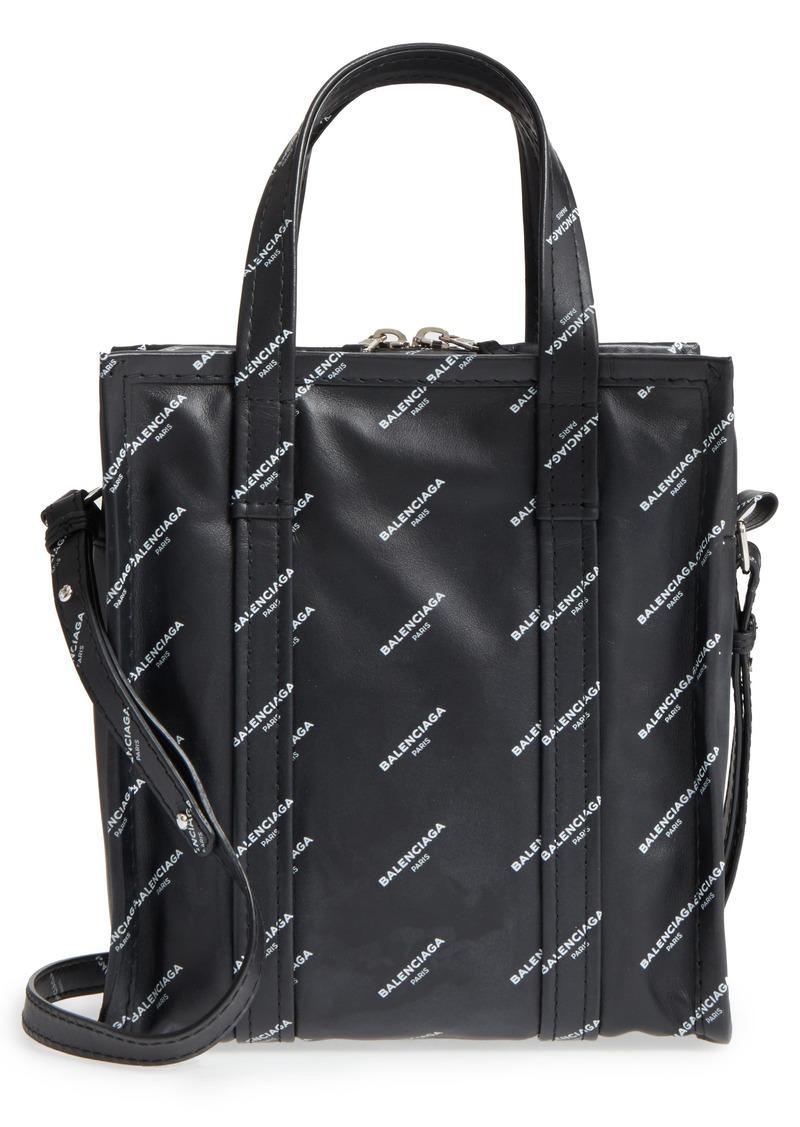 2349d9d0f5 Extra Small Bazar Logo Leather Shopper