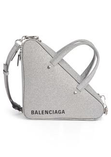 Balenciaga Extra Small Glitter Triangle Leather Bag