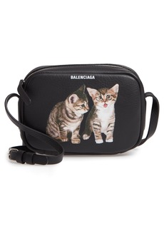 Balenciaga Extra Small Kittens Calfskin Leather Camera Bag