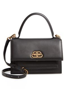 Balenciaga Extra Small Sharp Top Handle Leather Satchel