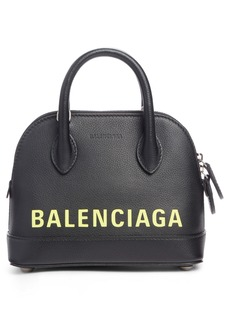 Balenciaga Extra Small Ville AJ Calfskin Top Handle Dome Satchel