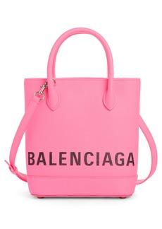 Balenciaga Extra Small Ville Logo Leather Tote