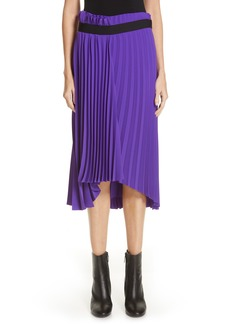 Balenciaga Fancy Asymmetrical Pleated Crepe Skirt