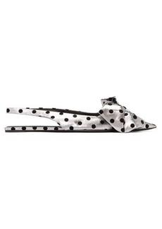 Balenciaga Flocked polka-dot lamé slingback flats
