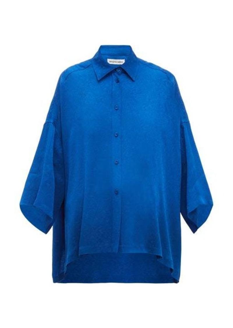 Balenciaga Floral-jacquard shirt