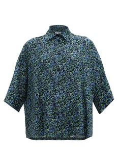 Balenciaga Floral-print silk shirt