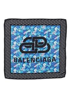 Balenciaga Floral Silk Square Scarf