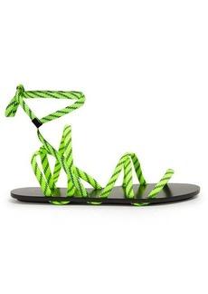 Balenciaga Fluorescent-laced wrap-around sandals