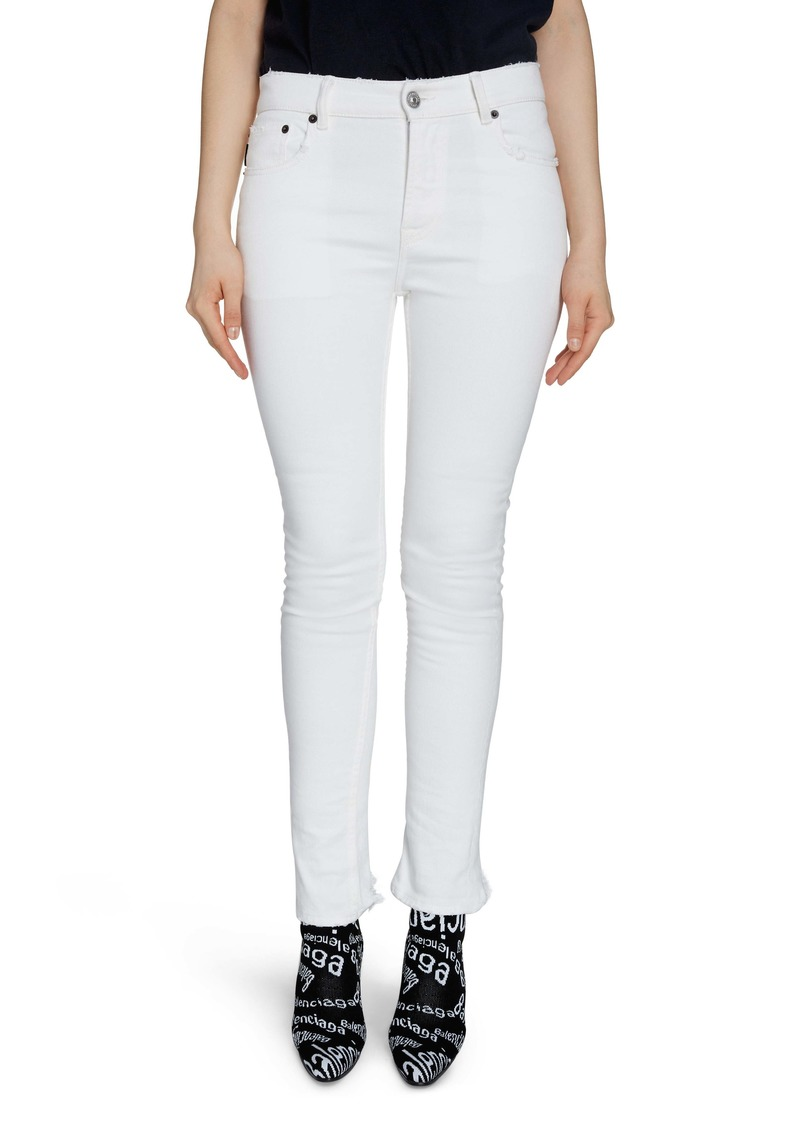 Balenciaga Fray Hem Skinny Jeans