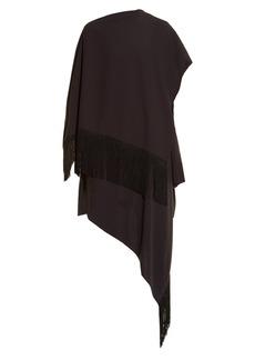 Balenciaga Fringed cape dress