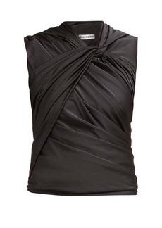 Balenciaga Gathered jersey top