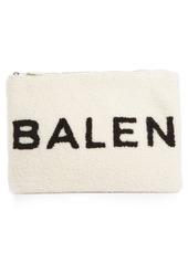 Balenciaga Genuine Shearling Pouch