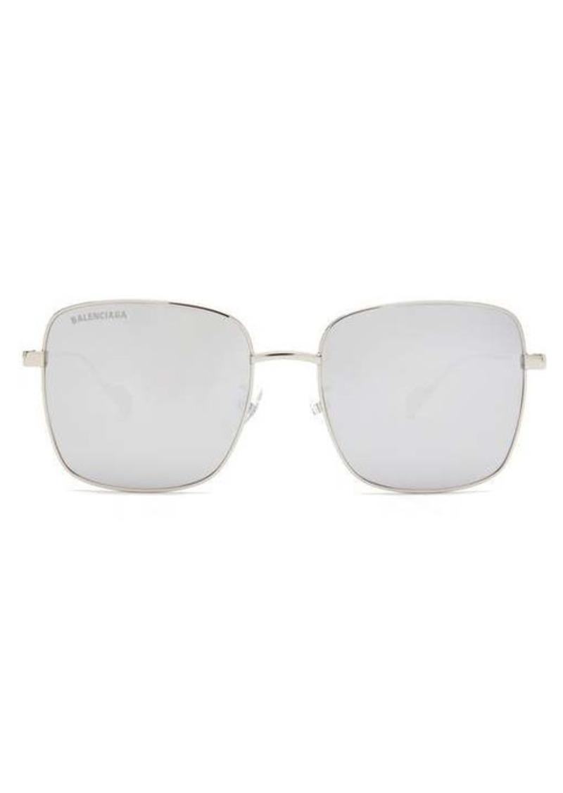 Balenciaga Ghost mirrored square metal sunglasses