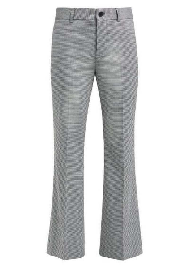 Balenciaga Gingham wool trousers