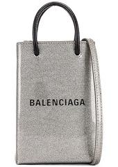 Balenciaga Glitter Shopping Phone on Strap Bag