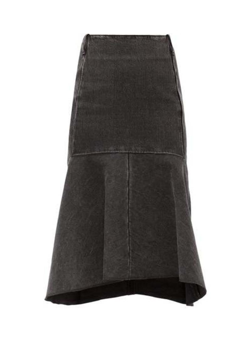 Balenciaga Godet-insert denim skirt