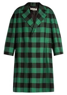 Balenciaga Godfather checked oversized coat