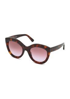 Balenciaga Gradient Oval Acetate Sunglasses