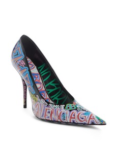 Balenciaga Graffiti Pointy Toe Pump (Women) (Nordstrom Exclusive)