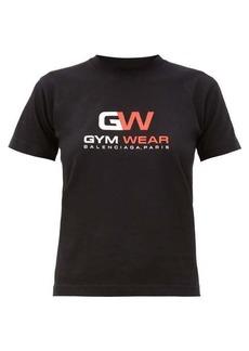 Balenciaga GW-print cotton-jersey T-shirt