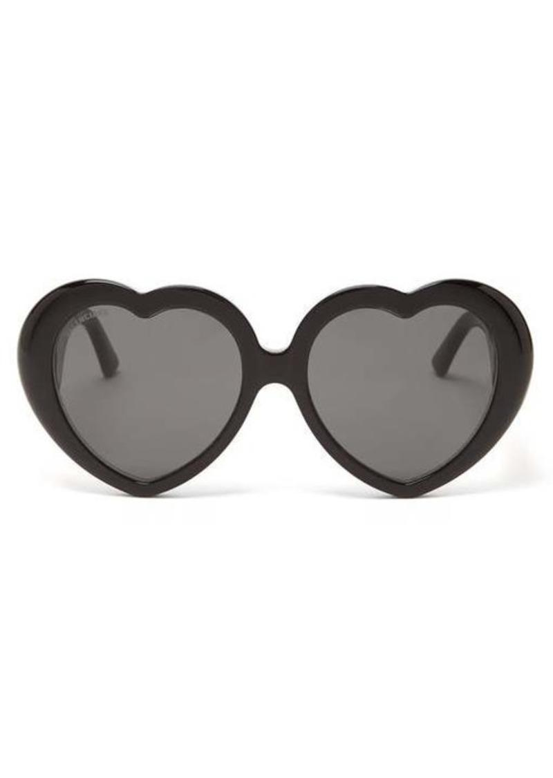 Balenciaga Heart acetate sunglasses