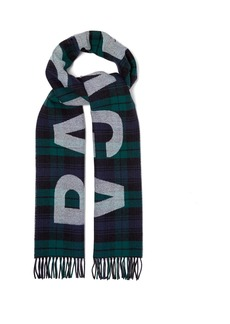 Balenciaga Heavy-knit wool logo scarf