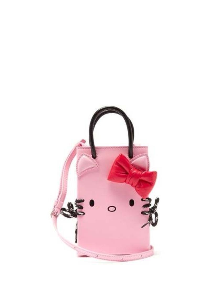 Balenciaga Hello Kitty Shopping Phone Holder leather bag
