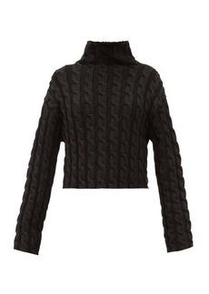 Balenciaga High-neck cable-knit sweater