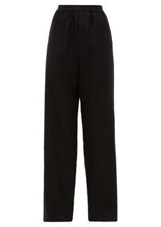 Balenciaga High-rise cashmere trousers