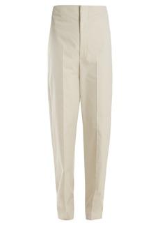 Balenciaga High-rise cotton mariner trousers