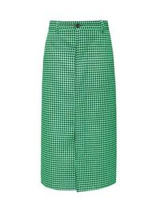 Balenciaga Houndstooth pencil skirt