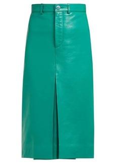 Balenciaga High-rise leather pencil skirt