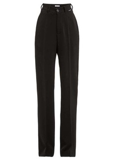 Balenciaga High-rise straight-leg crepe trousers