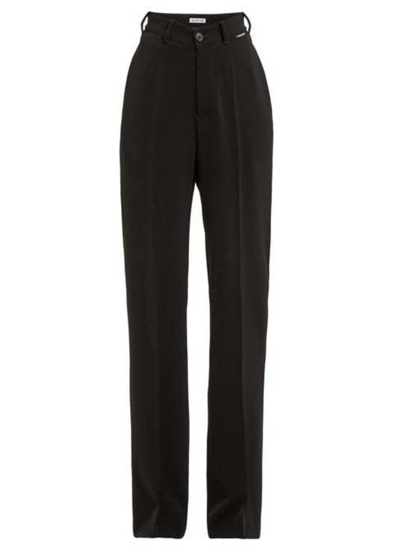 Balenciaga High-rise straight-leg crepe trousers