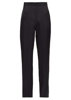 Balenciaga High-rise tailored straight-leg twill trousers
