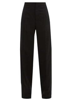 Balenciaga High-rise twill straight-leg trousers