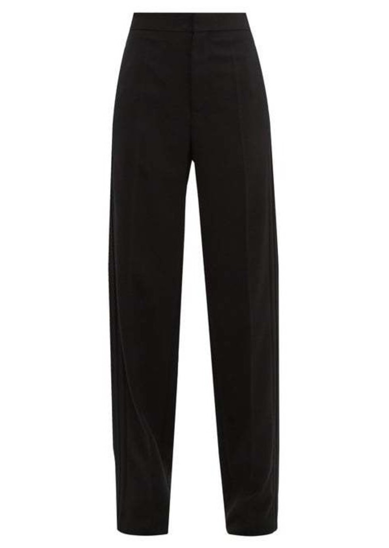 Balenciaga High-rise twill straight-leg trousers