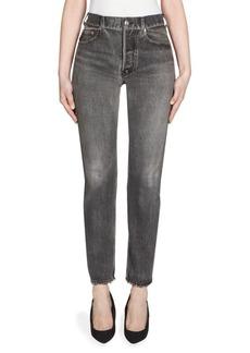 Balenciaga High-Waist Faded Skinny Jeans