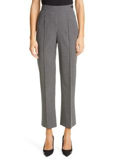 Balenciaga High Waist Minimalist Check Wool Blend Pants