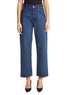 Balenciaga High Waist Straight Leg Jeans (Daddy Wash)