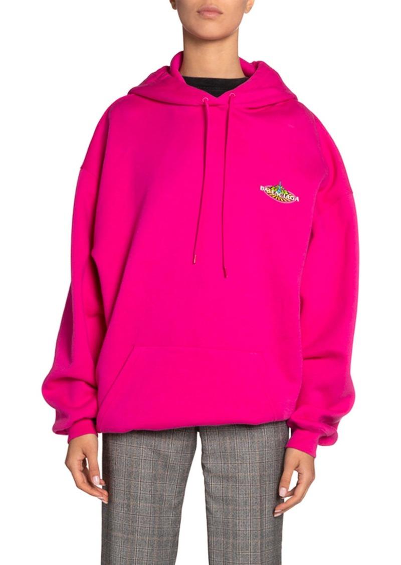 Balenciaga Hooded Bonjour Sweatshirt