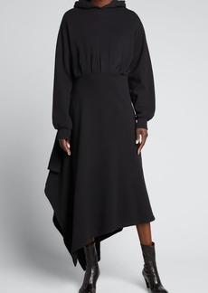 Balenciaga Hooded Maxi Dress