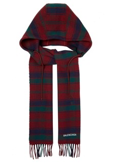 Balenciaga Hooded wool scarf