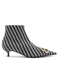 Balenciaga Houndstooth BB ankle boots