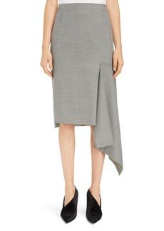 Balenciaga Houndstooth Godet Midi Skirt