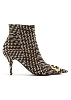 Balenciaga Houndstooth knife ankle boots
