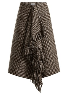 Balenciaga Houndstooth virgin wool skirt