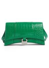 Balenciaga Hourglass Baguette Leather Shoulder Bag