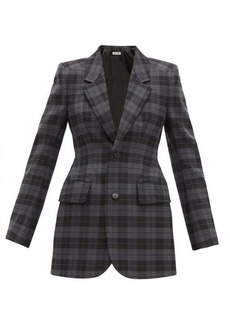 Balenciaga Hourglass checked twill blazer