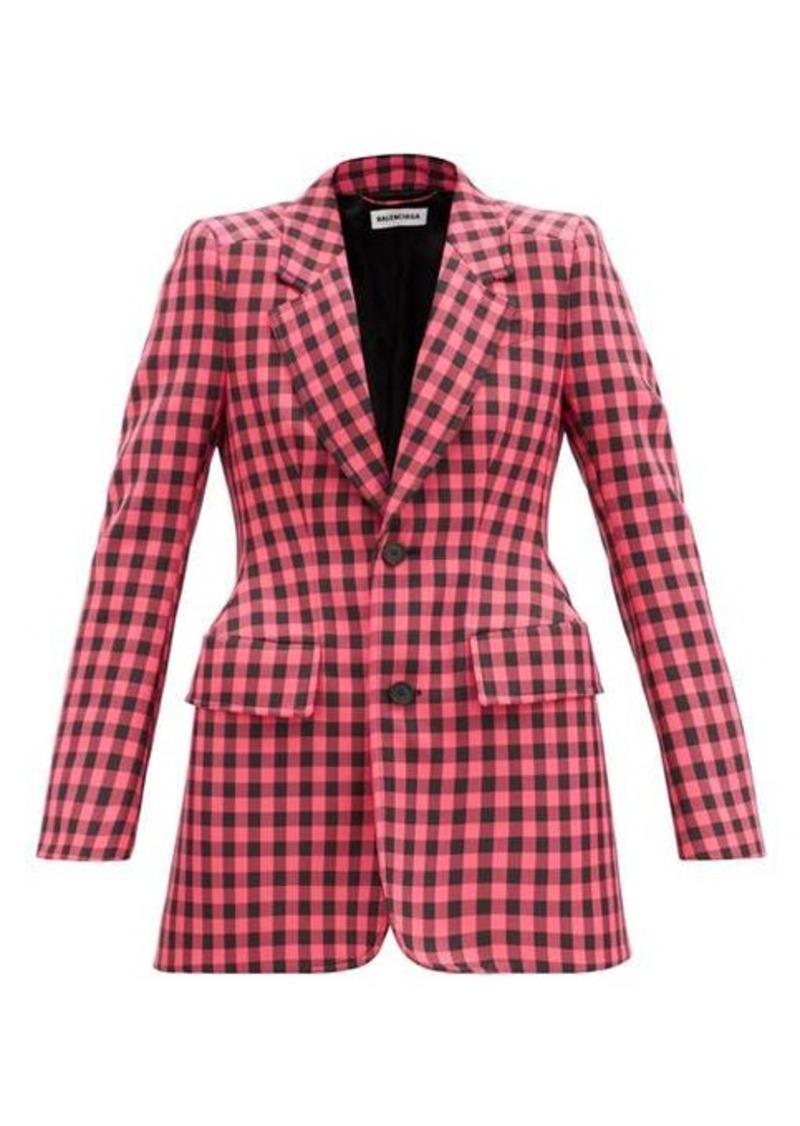 Balenciaga Hourglass gingham single-breasted jacket